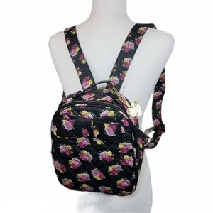 BETSEY JOHNSON Floral Bow Quilted Backpack
